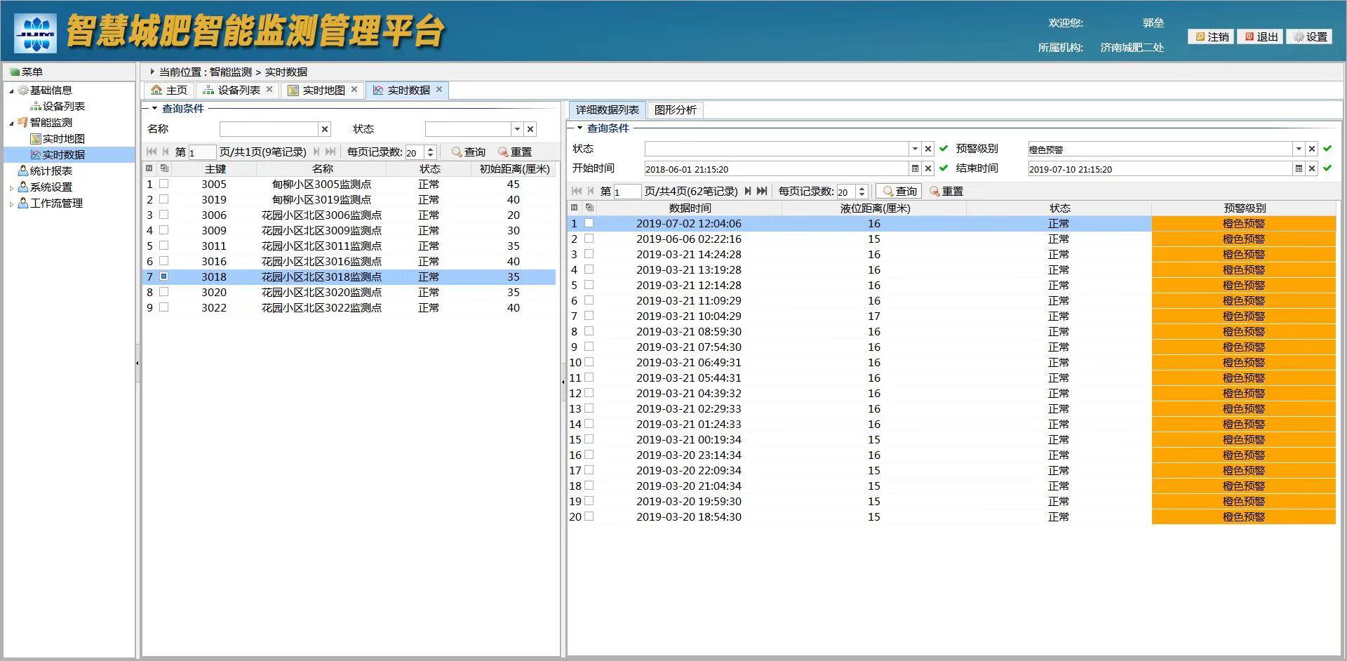 济南智慧井盖---济南智慧井盖智能报警系统平台软件开发
